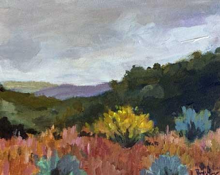 """""""Hiking Black Canyon"""" original fine art by Pamela Munger"""