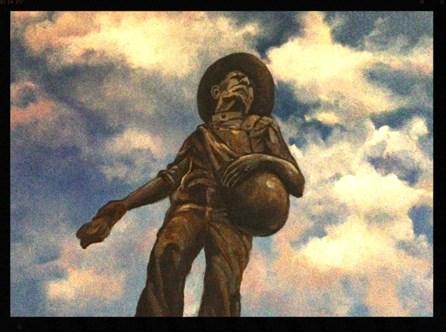 """Oklahoma Sower in the Sky"" original fine art by Linda Dunbar"