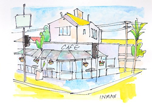 """Kensington Cafe Painting"" original fine art by Kevin Inman"