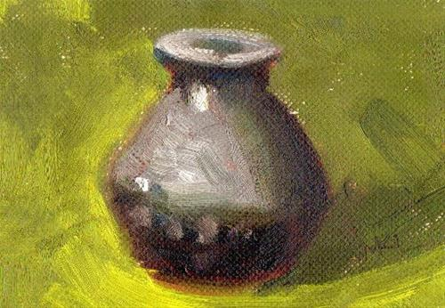 """Small Pot"" original fine art by Marlene Lee"