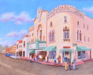 """""""A Show at the Lensic"""" original fine art by Robert Frankis"""