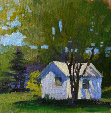 """Summer shack"" original fine art by Kathy Weber"