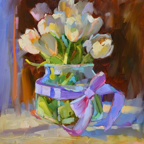 """Lavender Embrace"" original fine art by Dreama Tolle Perry"