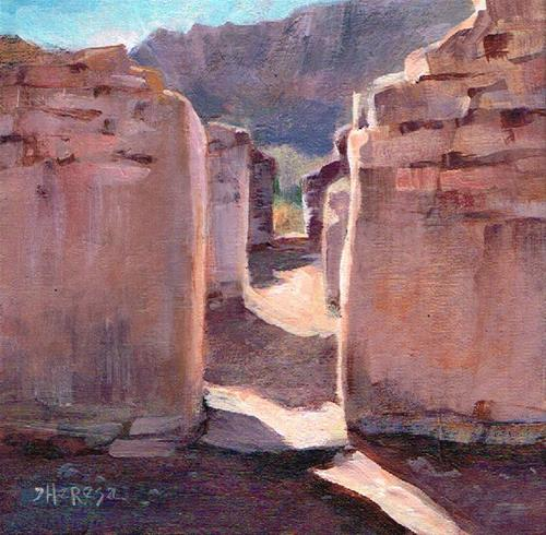 """Big Bend Adobe Ruins"" original fine art by Theresa Taylor Bayer"