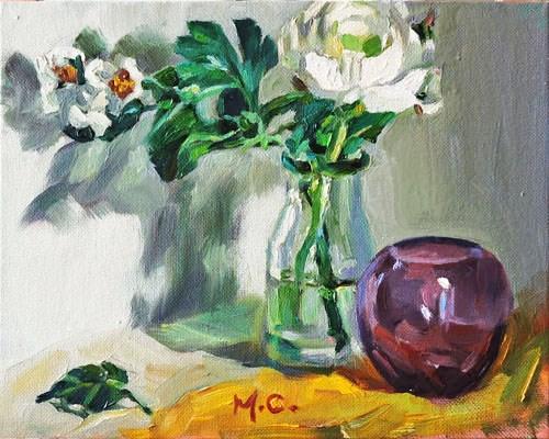 """""""WhiteBloom"""" original fine art by Michelle chen"""