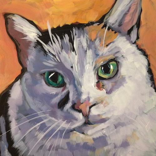 """""""Ben the Barn Cat"""" original fine art by Kat Corrigan"""