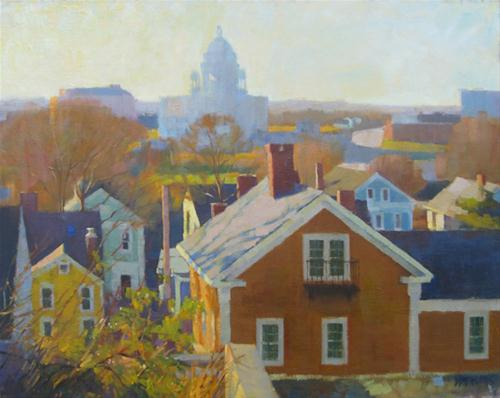 """""""State house shadow"""" original fine art by Kathy Weber"""