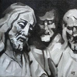 """#27 - The Witnesses"" original fine art by Elizabeth Dawn Johnston"