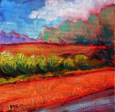 """""""Valley Storm 7"""" original fine art by Pam Van Londen"""