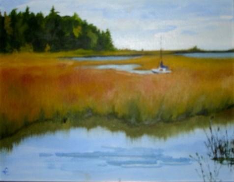 """""""Drifting away in Door County"""" original fine art by Linda Carney"""