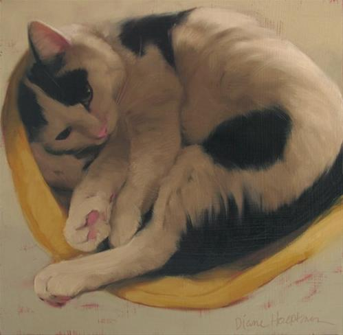 """""""Sleepy Spot and an Honorable Mention at 12th Annual VMRC exhibit"""" original fine art by Diane Hoeptner"""
