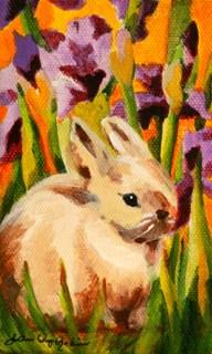 """Carrot Muncher"" original fine art by JoAnne Perez Robinson"