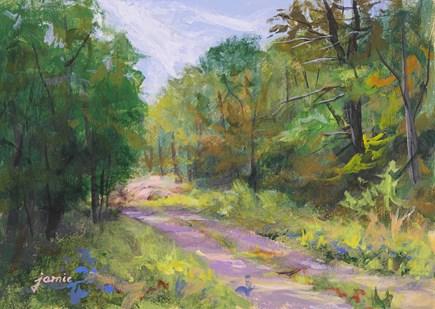 """Autumn Path"" original fine art by Jamie Williams Grossman"