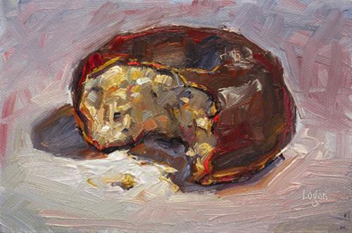 """Chocolate Doughnut"" original fine art by Raymond Logan"