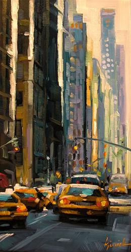 """Cab City"" original fine art by Karin Jurick"