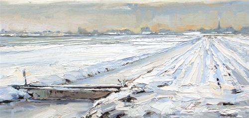 """Winterscape"" original fine art by Roos Schuring"
