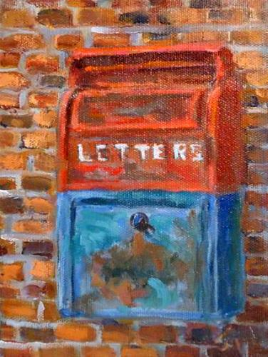 """Abandoned collectable Mailbox"" original fine art by Jim Moyer"