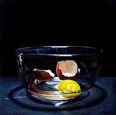 """Cracked Egg"" original fine art by Jelaine Faunce"