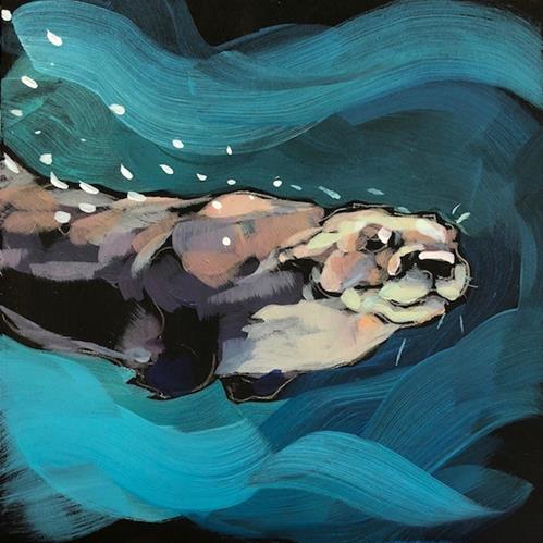 """""""Bubble Face"""" original fine art by Kat Corrigan"""