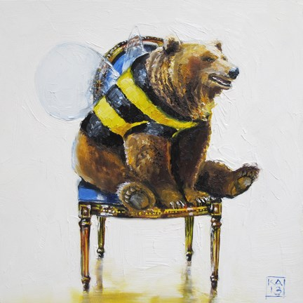 """bee mine"" original fine art by Kimberly Applegate"