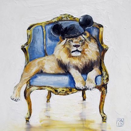 """motor city kitty"" original fine art by Kimberly Applegate"