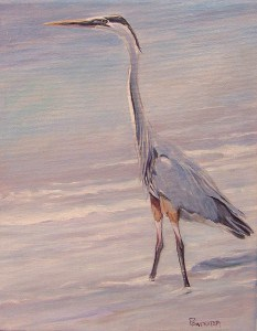 """The Great Blue Heron"" original fine art by Dianna Poindexter"