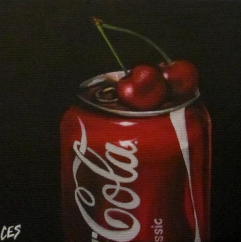 """""""Cherry Coke"""" original fine art by ~ces~ Christine E. S. Code"""