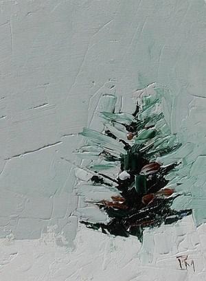 """Xmas Tree II"" original fine art by Pamela Munger"