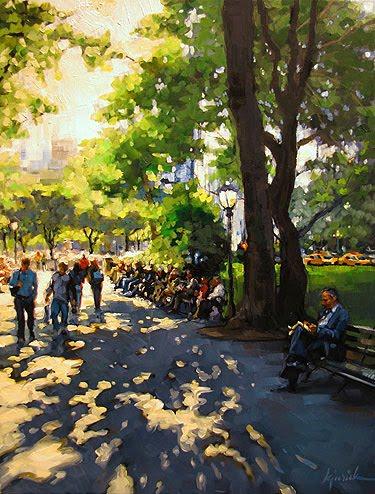 """Park Central"" original fine art by Karin Jurick"