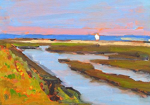 """San Diego River"" original fine art by Kevin Inman"