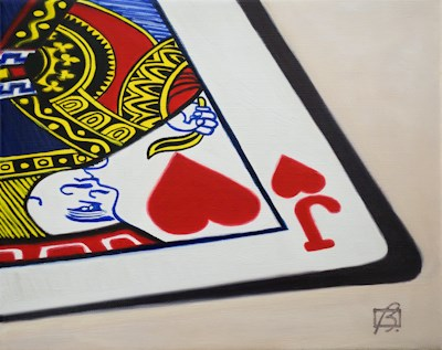 """Jack of Hearts"" original fine art by Andre Beaulieu"