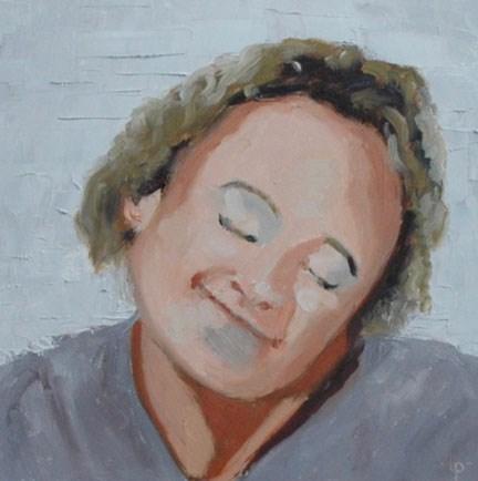 """""""FACE No. 112"""" original fine art by Linda Popple"""