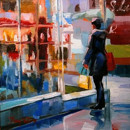 """""""am Schaufenster"""" original fine art by Jurij Frey"""