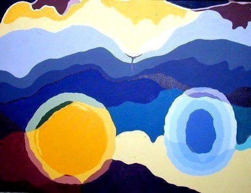 """Abstract Amanda"" original fine art by Barbara Lemley"