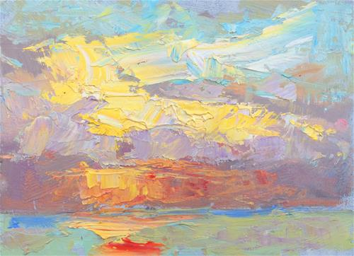"""Afterglow"" original fine art by Michael Clark"
