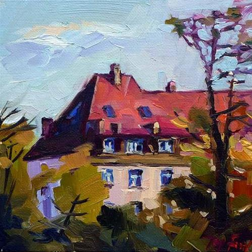 """""""herbstsonne"""" original fine art by Jurij Frey"""