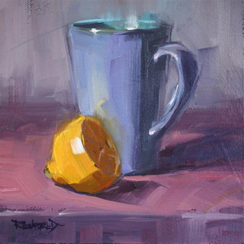"""Tea and Lemon"" original fine art by Cathleen Rehfeld"