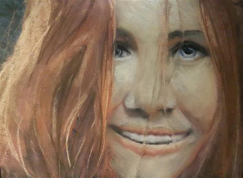 """Friday smile"" original fine art by Rentia Coetzee"