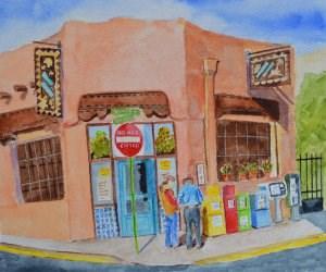"""Brunch in Santa Fe"" original fine art by Robert Frankis"