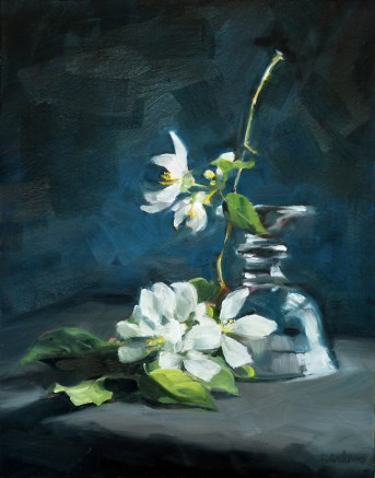 """""""Oil Painting: Pale Blossoms"""" original fine art by Deb Anderson"""