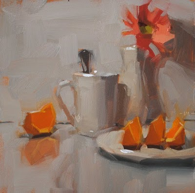 """Simple Breakfast"" original fine art by Carol Marine"