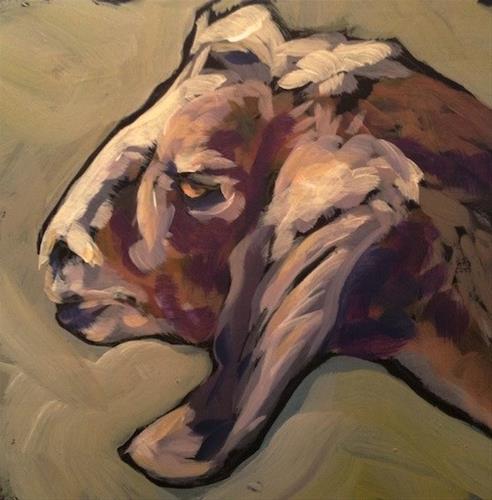 """Billy Goat Gruff"" original fine art by Kat Corrigan"