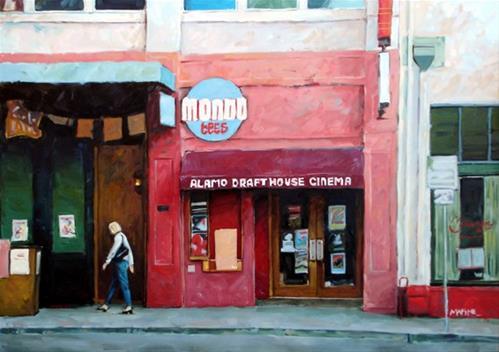 """Alamo Drafthouse Cinema"" original fine art by Carol Marine"