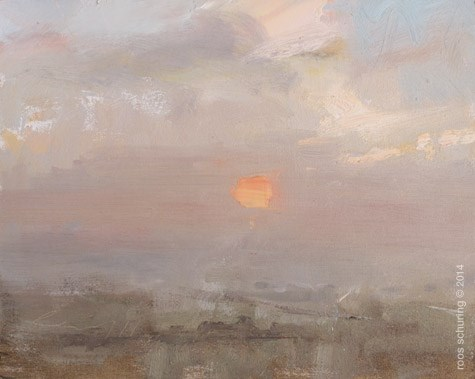 """""""Love for the Red Sun"""" original fine art by Roos Schuring"""