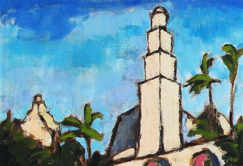 """California Tower in Balboa Park, San Diego"" original fine art by Kevin Inman"