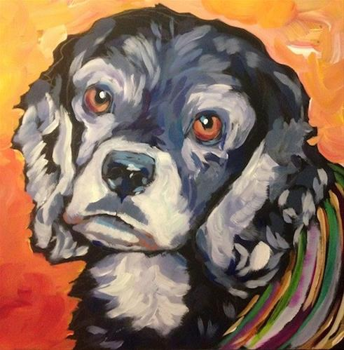 """Frankie"" original fine art by Kat Corrigan"