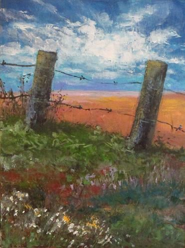 """Cattle Field"" original fine art by christina glaser"