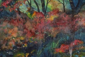 """Indication in Trees"" original fine art by Mariko Irie"