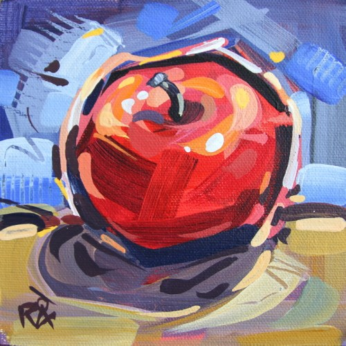 """""""Apple Abstraction 24"""" original fine art by Roger Akesson"""