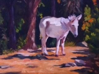 """""""Sally the Donkey"""" original fine art by Liz Zornes"""
